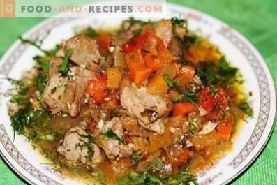 Dinde cuite avec des légumes