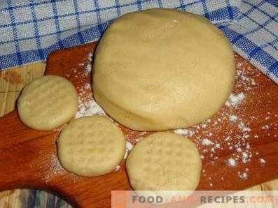 Pâte à sable avec crème sure