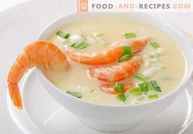 soupe à la crème de fruits de mer