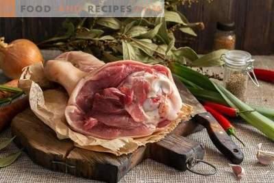 Salade de gelée et viande - 2 plats de 1 jarret de porc