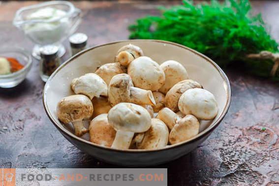 Kebab de champignons sur le gril ou au four. Vous allez oublier de la viande