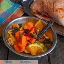 Canard juteux avec oranges en français