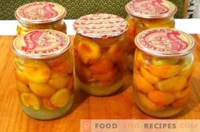 Abricots dans leur jus pour l'hiver