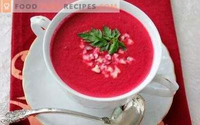 Soupe de purée de betterave