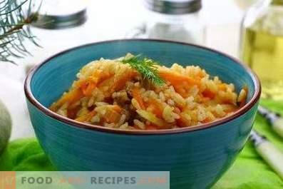 Riz avec le ragoût dans une casserole