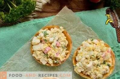 Tartelettes aux bâtonnets de crabe, fromage et œuf