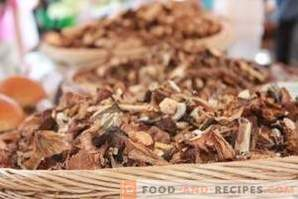 How to store dried mushrooms